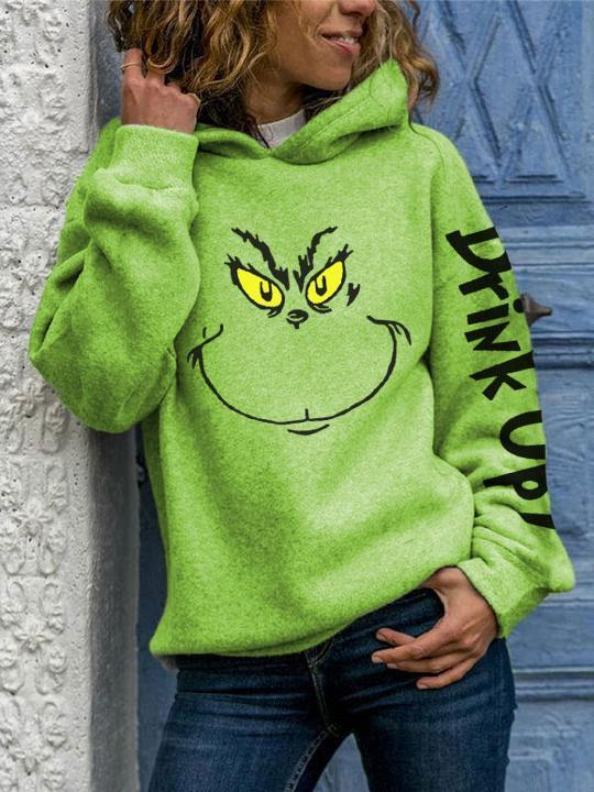 Animal Face Drink Up Christmas Hoodies