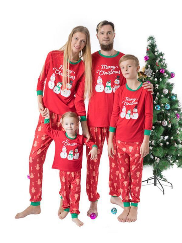 Printed Home Pajamas For Parents and Children