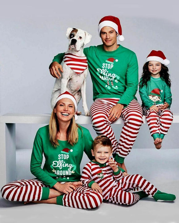 Two piece set of Christmas printed household clothes