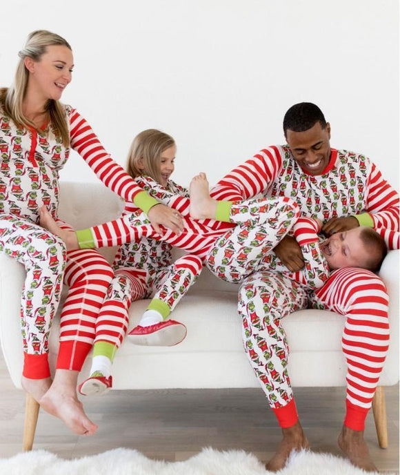Christmas parents' and children's suits two pieces of pajamas
