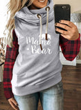 Fashion Long Sleeve Stand Neck Hoodie