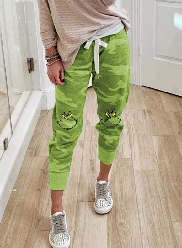 Green pattern Print Trousers