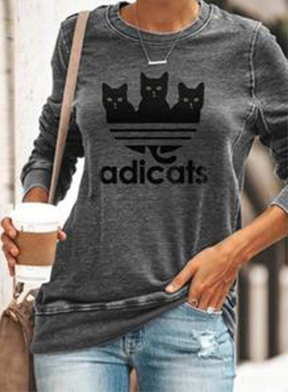 Woman Sweatshirt Geometric Long Sleeve Sweatshirt