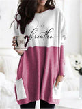 Women's Just Breathe Printed Long Sleeve Blouse