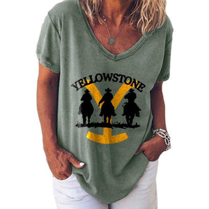 Casual Yellowstone Printed T-shirt
