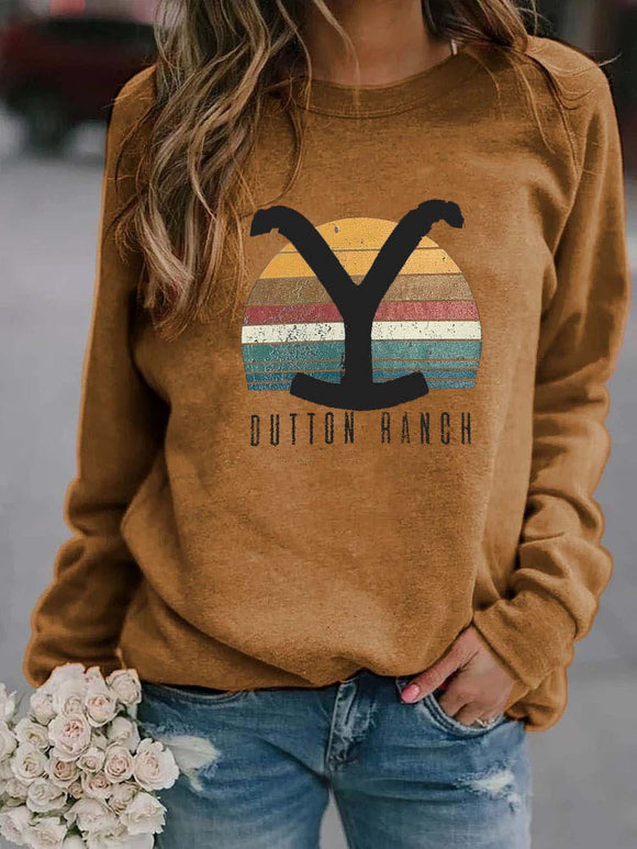 Yellowstone Dutton Ranch Rainbow Print Sweatshirt