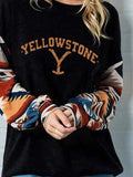 Women's  Yellowstone Film and Television Arm Print Top