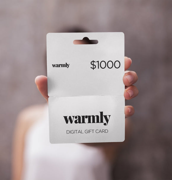 Warmly Digital Gift Card (Instant Download)