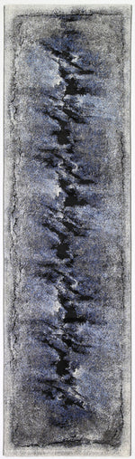 Vision Peak Blue Grey Runner Rug