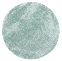 Puffy Soft Shag Round Rug Teal