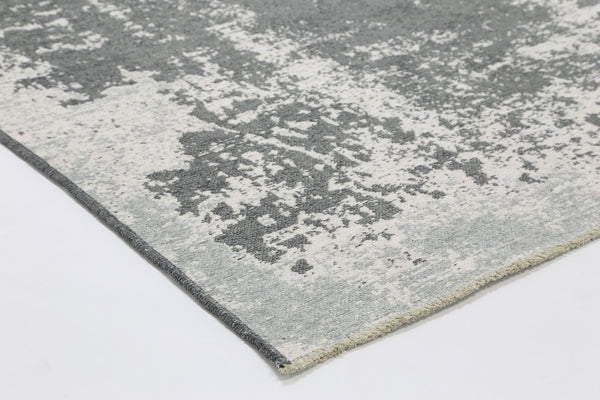 Rustic Vintage Abstract Amazing 2 In 1 Reversible Rug Grey