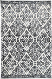 Alayah Diamond Anthracite Rug