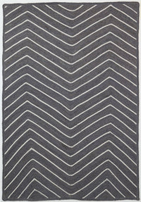 Artisan Natural Chevron Grey Rug
