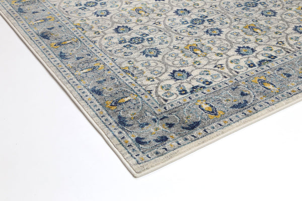 Provance  Blue Border Oriental Rug