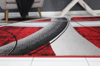 Allure Modern Artistic Red Rug