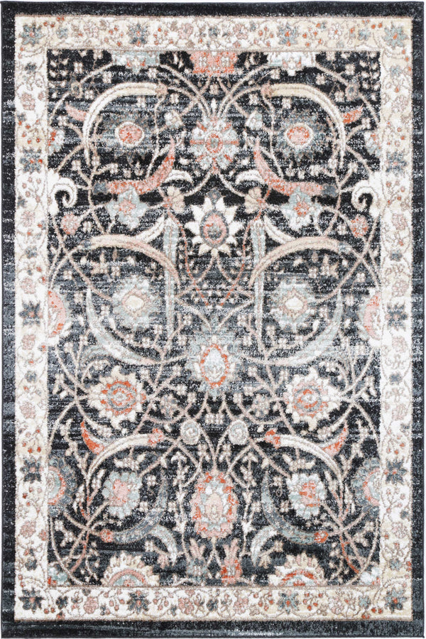 Anatolia Traditional Charcoal Cream  Rug