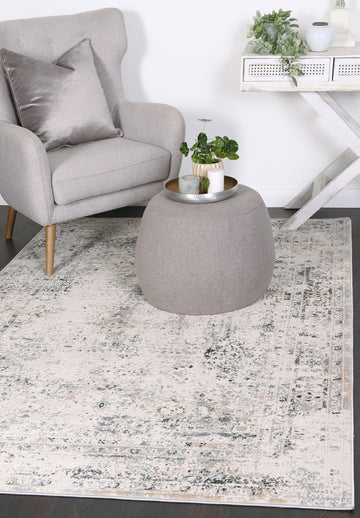Expressions Beige Grey Contemporary Rug