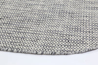 Scandi Grey Reversible Wool Round Rug