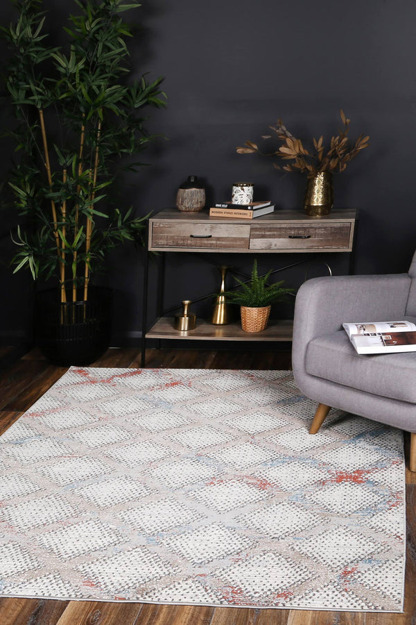 Manisa Diamond Cream Rug