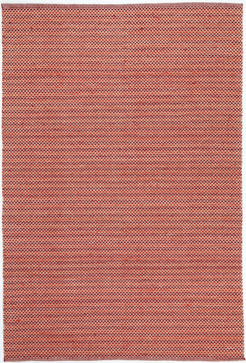 Natura Wool Red Striped Rug