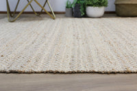 Oslo Natural Jute Diamonds Flat Weave Rug