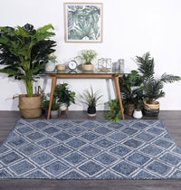 Artisan Natural Parquetry Denim Rug