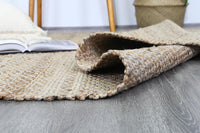 Taj Natural Basket Weave Grey Jute Rug
