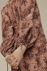Fifi Dress Painted Leopard Pink