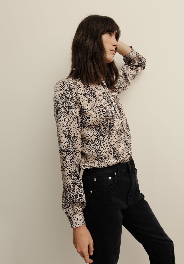 Devon Shirt Painted Leopard