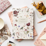 Heirloom Pressed Floral Lay Flat Notebook