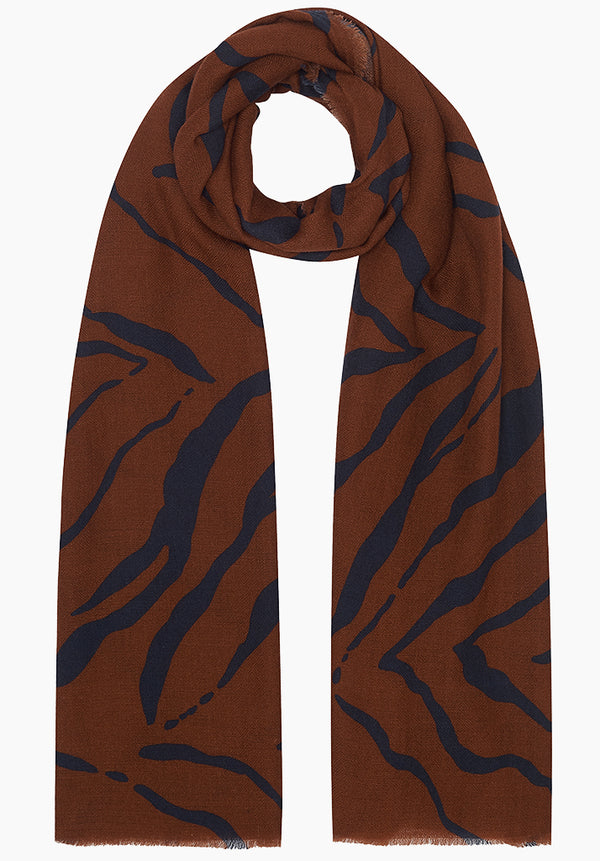 Tiger Rust Scarf