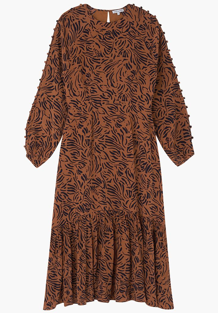 Isobelle Dress Zebra Tobacco