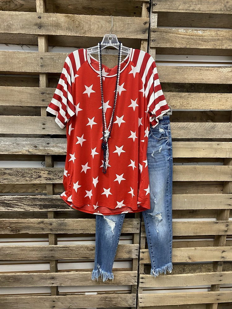 【Pre-sale】2021 Hot Sale Stars Stripe Independence Day Memorial T-shirt