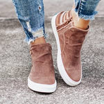 women ankle chaussure gladiator flats denim jean autumn warm flat shoes