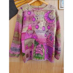 2020 New Fashion Laies Vintage Printed  Casual Loose Pullovers T-Shirts