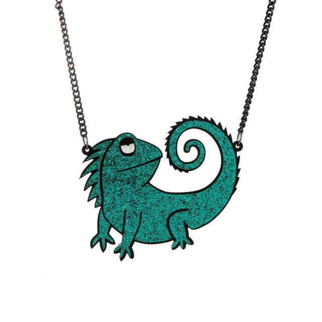 Women 2021 Fashion Cartoon  Eye-Catching Night Club Hip Hop Dollar Flower Dinosaur Necklace