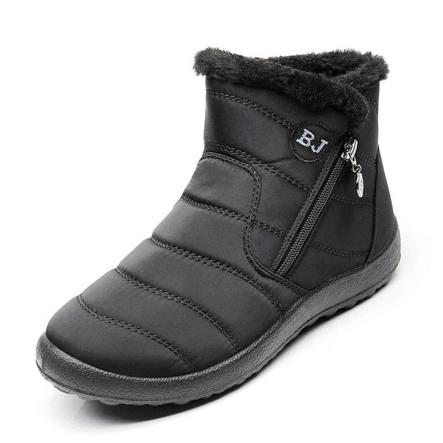 Women Winter Boots 2020 Casual Shoes Woman Snow Boots Solid Warm Plush Botas Mujer Waterproof Zipper Ankle Boots