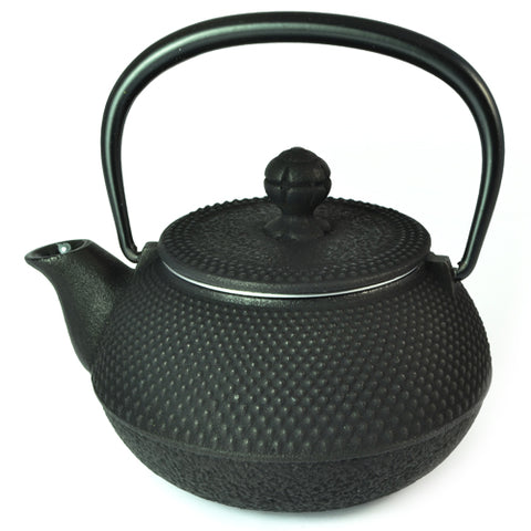 Iwachu Iwachu Cast Iron Tetsubin Teapot With Arare Pattern In Black 325ml