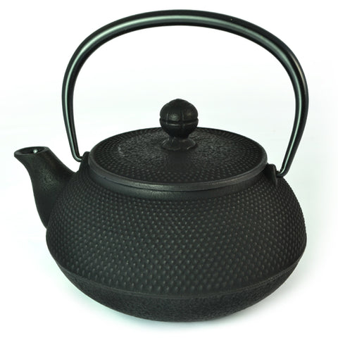 Iwachu Iwachu Cast Iron Teapot With Arare Pattern In Black 650ml