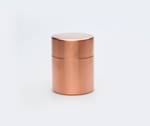 Azmaya Copper Tea Caddy Large