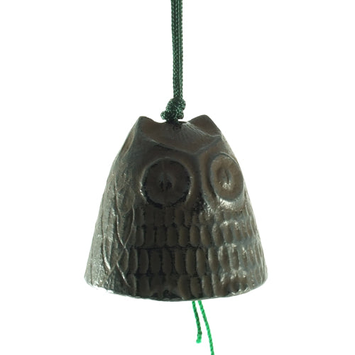 Zen Minded Small Brown Owl Cast Iron Wind Bell