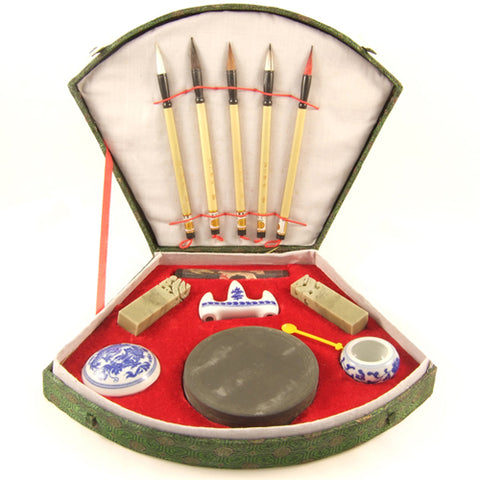 Zen Minded Chinese 5 Brush Art & Calligraphy Set Large