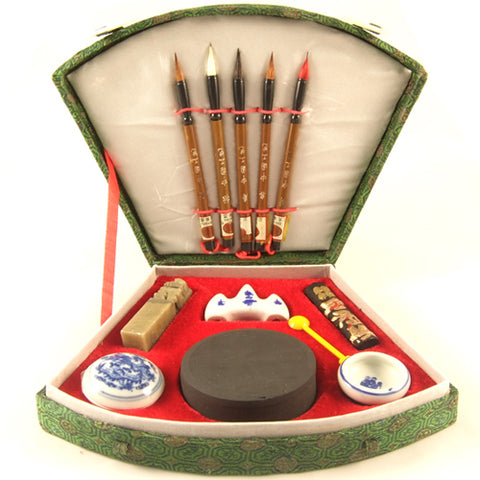 Zen Minded Chinese 5 Brush Art & Calligraphy Set Small