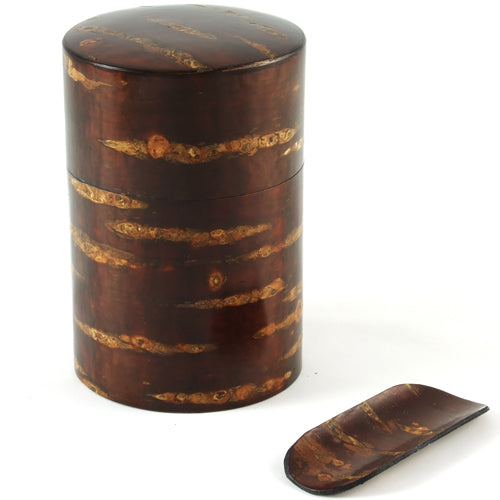 Zen Minded Cherry Wood Tea Caddy With Scoop