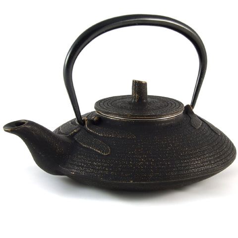 Iwachu Iwachu Cast Iron Tetsubin Teapot With Dragonfly Pattern In Black & Gold
