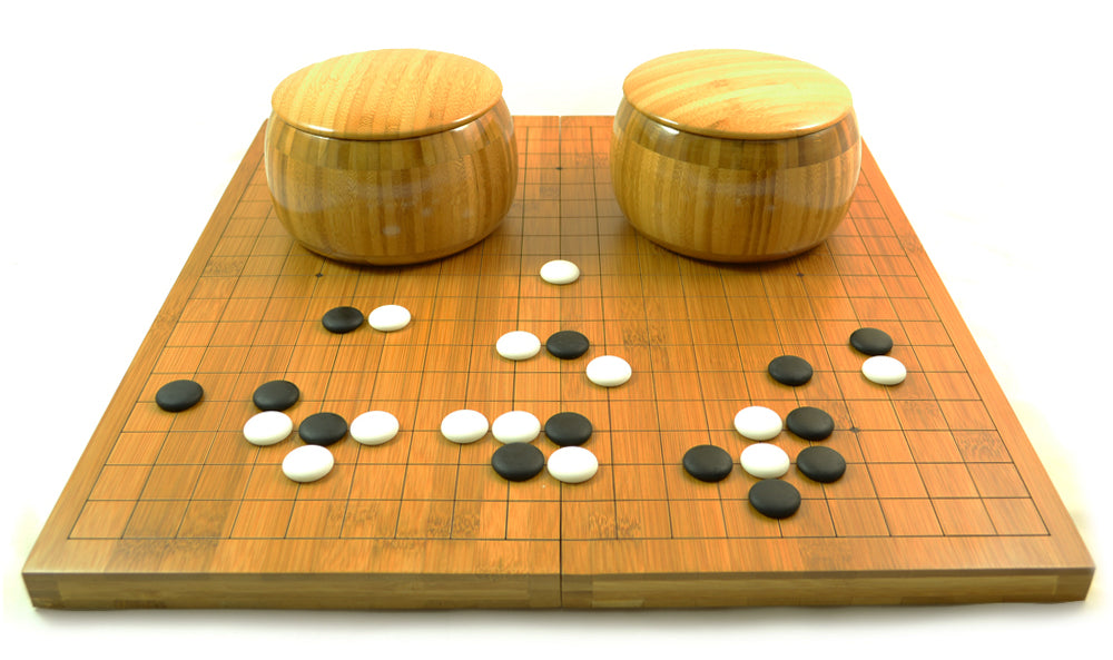 Zen Minded Go Set With Bamboo Bowls Folding Game Board