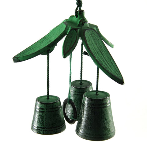 Zen Minded Bamboo Leaf Cast Iron Wind Bell