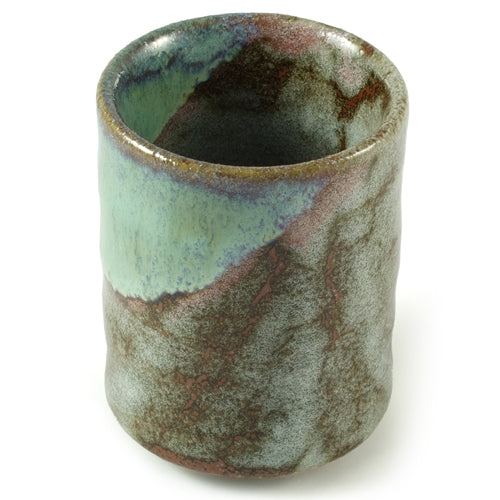 Zen Minded Green & Brown Glazed Ceramic Cup