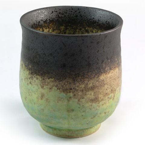 Zen Minded Green & Purple Glazed Tea & Coffee Cup