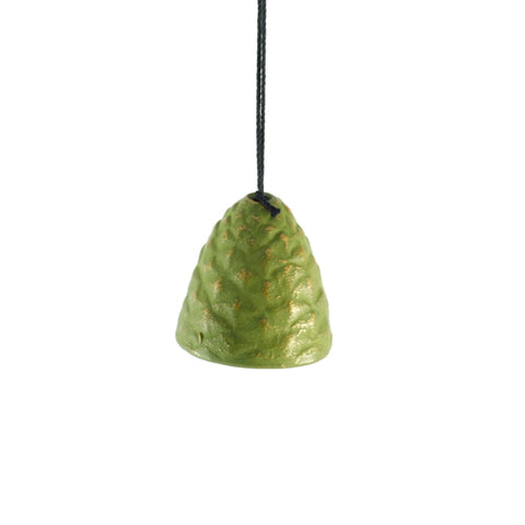 Iwachu Green Pine Cone Wind Chime